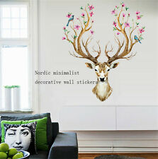 Home Decor Sika Deer Removable Decoration Vinyl Wall Paper Art Wall Sticker