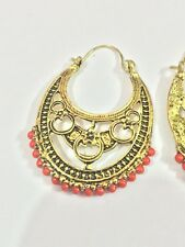 Indian StyleAntique Look Vintage Ethnic Jewelry Gold Tone Oxidized Pearl Earring