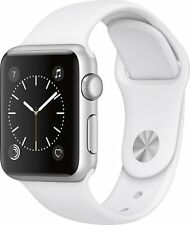 Apple Watch Series 1 38mm Smartwatch Silver Aluminum Case, White Sport Band NEW