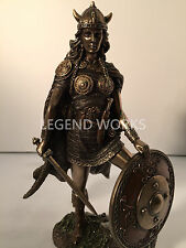 NEW Female Viking Warrior With Sword And Shield Statue Sculpture Figurine