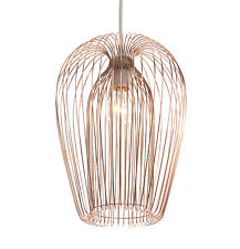 Modern Copper Wire Ceiling Light Shade Non Electric Pendant