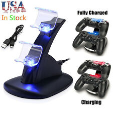 LED Dual USB Charger Station Dock Fast Charging Stand for Sony PS4 Controller