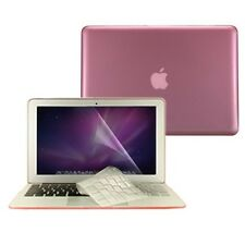 "3 in 1 Crystal PINK Hard Case for Macbook Air 13"" A1369 + Key Cover + LCD Screen"