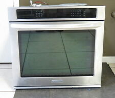 "2014 KitchenAid Single 30"" Built In Wall Convection Oven Stainless KEBS109B"