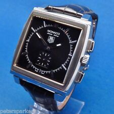 TAG HEUER MONACO SIXTY NINE STEEL HAND-WIND MECHANICAL/DIGITAL WRISTWATCH CW9110