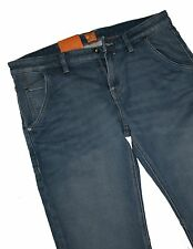 Hugo Boss 50265916 Turquoise Aqua Stretch Denim Orange 90 Belfast Jeans W33 L32