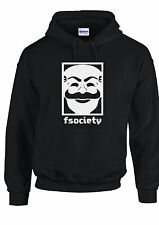 "MR. ROBOT HOODIE ""F SOCIETY MASK"" E CORP HACKING MENS UNISEX KIDS HOODY"