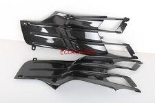 Kawasaki ZX14 2012 2013 2014 CARBON FIBER UNDER TANK FITTINGS twill weave glossy
