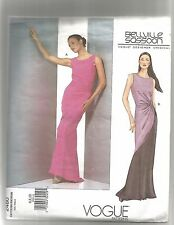 Vogue #2480 Misses Twist Knot Evening Dress 6-10 BELLVILLE SASSOON Design ©2001