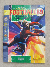 PANINI 1989 STICKER ALBUM 1 STICKER SHORT OF 100% COMPLETE FOOTBALL 89