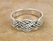 UNIQUE STERLING SILVER WOVEN CELTIC KNOT RING size 7  style# r0844