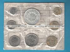 SET 8 MONETE UNC FRANCE 1973 FIOR DI CONIO SIGILLATO CON 10 FRANCHI ARGENTO
