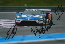 FRANCHITTI, MUCKE, PRIAULX HAND SIGNED FORD GT 6X4 PHOTO LE MANS 3.