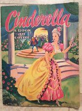 Vintage FAIRY TALE Coloring Book SAALFIELD 1949 CINDERELLA, A BOOK TO COLOR