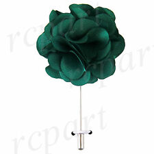 """New in box formal Men's Suit chest brooch green solid 2"""" flower lapel pin"""