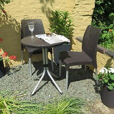 Bistro Table And Chairs Patio Furniture Dining Set 3 Piece Garden Outdoor New