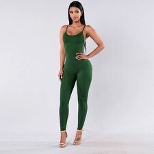Women Bodysuit Sports Clubwear Party Bandage Long Jumpsuits Rompers Pants Suit