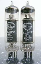 CLOSE MATCHED PAIR MULLARD EL822 CV2382 Valve Tube röhre HiFi amp radio 管放大器