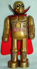 "OGON OHGON BAT GOLDEN BAT BILLIKEN9""TIN wCAPE WIND UP WALKNG JAPAN ROBOT NEWnBOX"