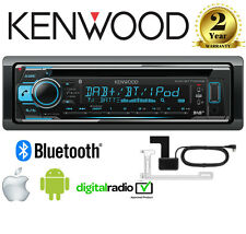 KENWOOD kdc-bt710dab CD MP3 Bluetooth DAB + STEREO IPHONE / ANDROID + ANTENNA incl
