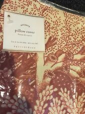 """Pottery Barn Coral Ocean Orange Red 16 X 26"""" Pillow Cover New Sea Floor"""