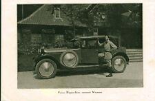 """Publicité Ancienne """" Voiture Automobile Hispano-Suiza 1926 ( P 34 )"""