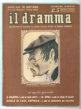 IL DRAMMA N. 397-398 1943 EDOARDO DE FILIPPO MARIO POMPEI UGO BETTI SEAN O'CASEY