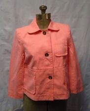 Juicy Couture Frosted Neon Orange/Coral 3 Button Boxy Jacket Size S/Small NWOT