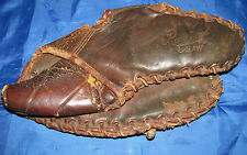 "Antique Rawlings 3 Finger ""Claw"" T 100 Stamped Hank? Glove Antique, USC#722"