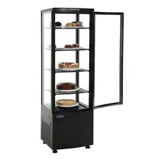 Polar Black Chilled Cake Display Chiller with Curved Glass 1690Hx515Wx485Dmm