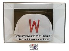 Custom Hat Display Case Acrylic Wall Mount Create Your Own Text Personalize