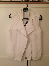 Sportmax Code NEW white sporty vest jacket £235 UK 8/10