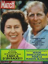 PARIS MATCH N° 1226 ELIZABETH ST LAURENT-DU-PONT INCENDIE MALRAUX NIXON 1972