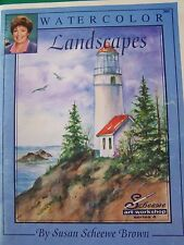 WATERCOLOR LANDSCAPES BY SUSAN SCHEEWE BROWN 1996 102 PAGE ART WORKSHOP TOLE