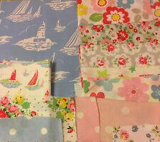 Nuevo paquete de Patchwork Cath Kidston Fabric 12 patrones - 16 Piezas Varios Tamaños