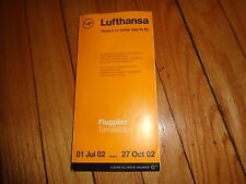 Lufthansa Timetable 01 July 2002 to 27 October 2002