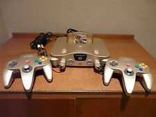 Nintendo 64 N64 *GOLD Special Edition* RARE System Console Majora's Mask Bundle!