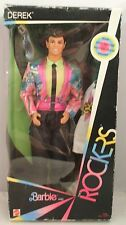 Original 1985 Barbie & The Rockers Derek Doll+Iron-On Decal 1st Series (MIB)