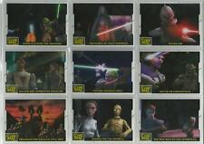 "Star Wars Clone Wars 2008 - ""Animation Cel Cards"" Set of 10 Chase Cards #1-10"
