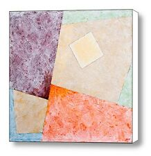 Suprematist Composition With A Square Original Abstract Acrylic Painting Canvas