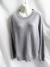 100% Cashmere Sweater Size XL Gray Scoop Neck Womens Enzo Mantovani Tunic Jumper