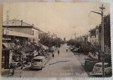 Porto Garibaldi  Via della Resistenza molto animata con pulmino B/N Viag. vedi
