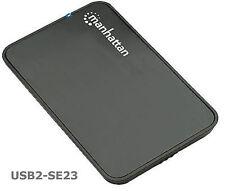 "USB 2.0 SATA 2.5"" Hard Drive Enclosure, Black, 130042"