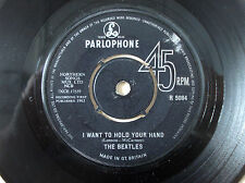 """The Beatles I Want To Hold Your Hand ♫LISTEN♫ UK 7"""" NCB Parlophone R 5084 1963"""