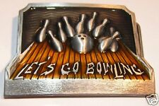 ANDIAMO dieci Pin Bowling Tenpin Palla Lane fibbia della cintura per fissare al Proprio Cintura Nuovi