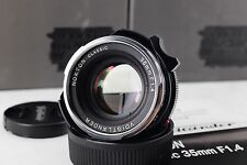 NEW Voigtlander NOKTON 35mm F1.4 M.C. for leica m mount