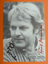-ah- Peter Fricke, Autogrammkarte (mit Widmung)