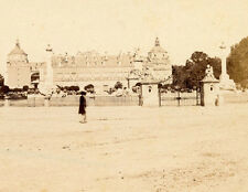 ARANJUEZ SPAIN VIEW OF GATED  ROYAL PALACE STEREOVIEW