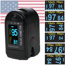 Fingertip Pulse oximeter Blood Oxygen Monitor PR SpO2 Tester // Lanyard &Case //