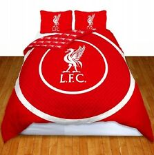 LIVERPOOL DOUBLE BULLSEYEFOOTBALL FC CREST DOUBLE BED DUVET QUILT COVER  SET LFC